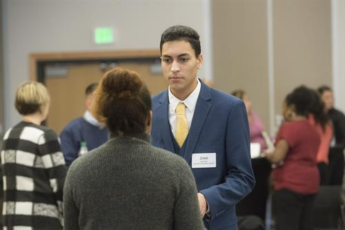 The Diversity Networking Reception connects students to employers who are looking to hire a diverse employee base.
