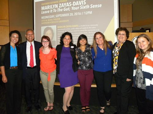 Judge Marilyn Zayas (center), the Keynote Speaker for National Hispanic Heritage Month Keynote Lecture Series for 2016.