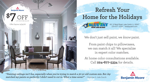 Blue Jay Paint & Blinds Postcard