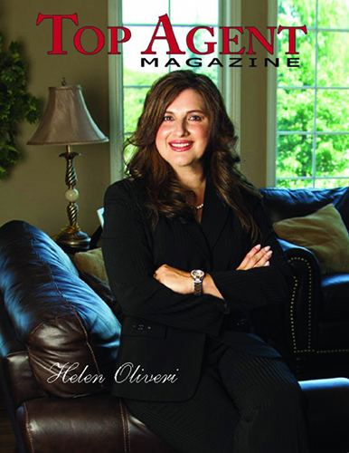 Helen on the cover of Top Agent Magazine