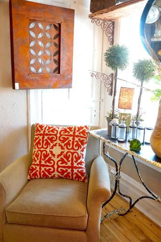Furniture, wall art, pillows - new and rare finds.