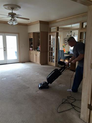 We even clean the carpets