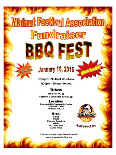 Fundraising Event - BBQ Fest - January 16, 2016