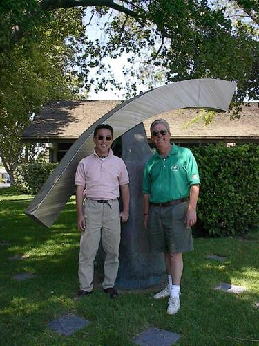 2002 Mike Pastrick by sister city sculpture