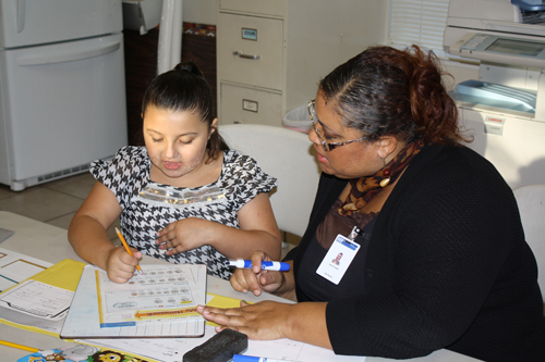 Tutoring at Lyle Morris Family Center