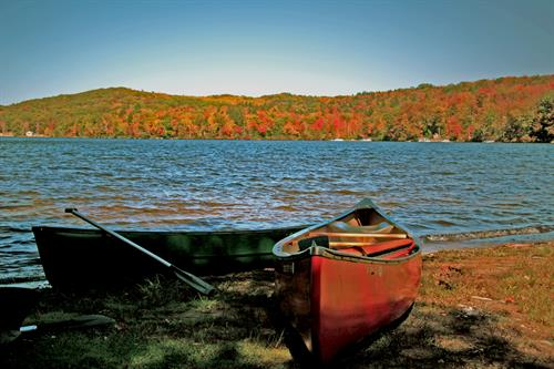 A paddle around our lake in Fall is hard to beat.