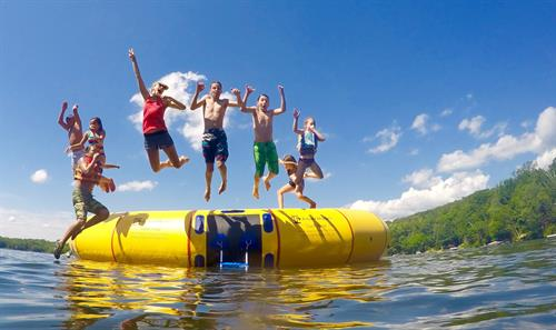 Water trampoline! It's hard to get enough of it!