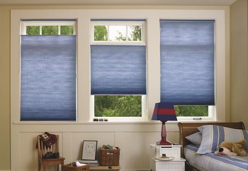 Honeycomb Cellular Shades with the Top-Down-Bottom-Up feature!