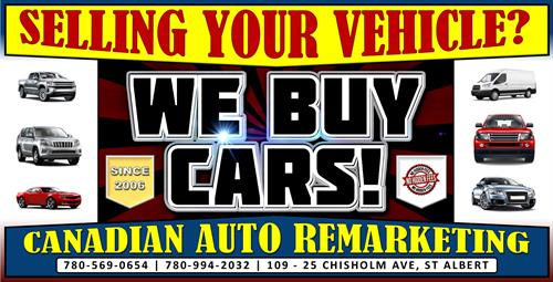Before you decide if you should trade your used car, truck or suv in or sell it privately? Allow yourself to see what different options Canadian Auto Remarketing – We Buy Cars Canada and We Buy Cars outlet has to offer! We will guarantee that you will not be disappointed at the options that our experts have to offer you before you make your final decision.