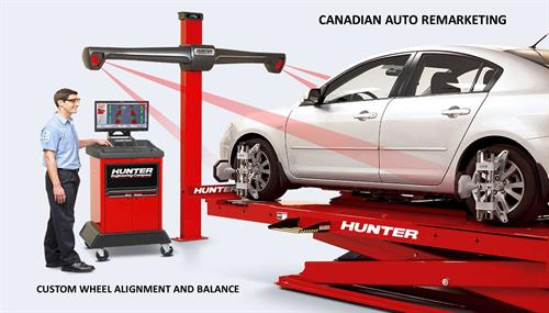 Canadian auto remarketing provides complete wheel alignment, tire balancing and tire changes services on all vehicle makes and models, from imports to domestics.