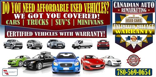At Canadian auto remarketing we can keep our overhead costs low in order to be able you to provide your better prices with the most affordable and drastically reduced vehicle prices through our privately and or our vehicle network across Canada, from a $5,000 vehicle to a $700,000 exotic or sports car, we have the same ability and access to vehicle inventories just like the big dealerships in town and we pay the same price as they do.
