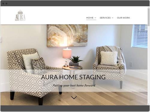 Website Design for Aura Home Staging
