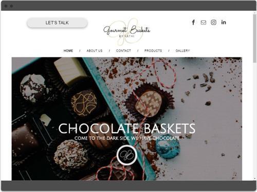 Website Design for Gourmet Baskets by Kathi