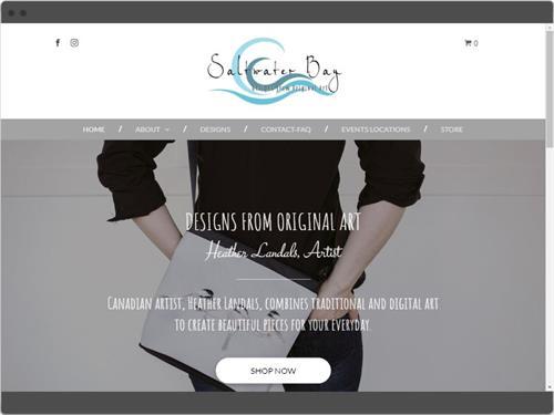 Website Design for Saltwater Bay