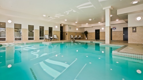 Relax and re-charge in our salt water pool and hot tub