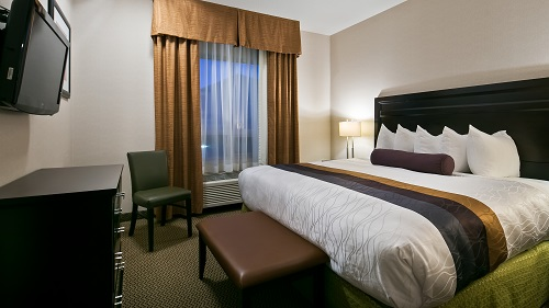 Our guest rooms are spacious and offer you a comfortable place to unwind.