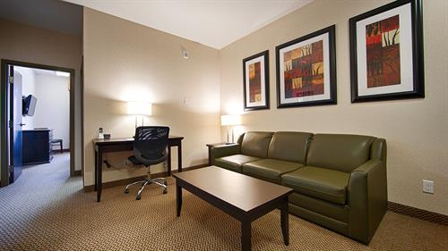 Enjoy our spacious guest room with a separate sitting area.