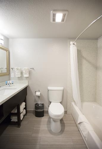 Hotel Bathroom at Amanzi Hotel Ventura