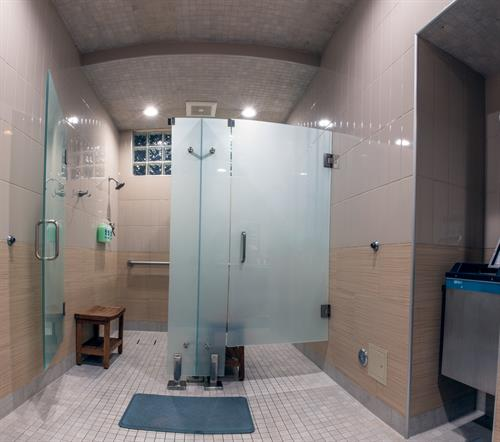 Ladies Locker Rooms - newly remodeled - like a refreshing Spa!