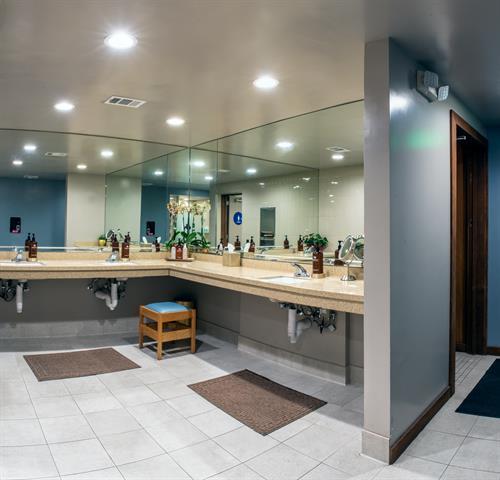 Women's Locker Room - vanity area.