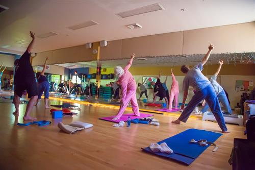 Yoga classes are relaxing and fun!