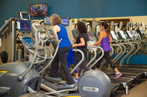 Cardio Fitness Center with indivual My Entertainment Screens for viewing your favorite tv shows!