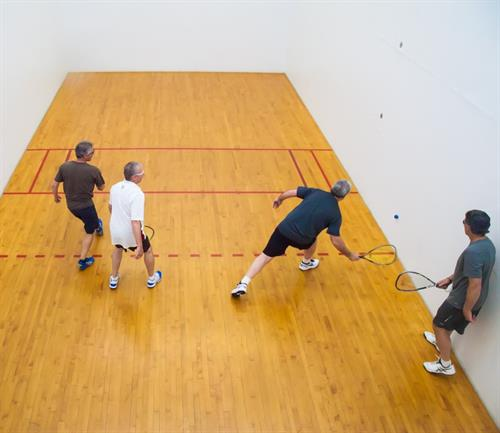 Racquetball doubles meet weekly!