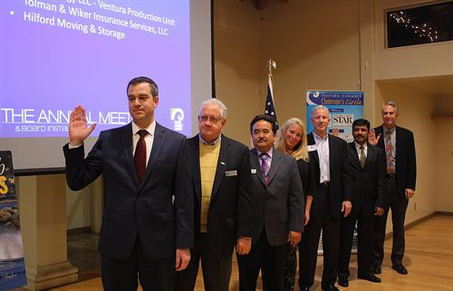 Ventura Chamber of Commerce's 2016 Executive Board being sworn in, January 2016.