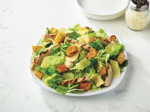 Chicken Caesar Salad - Fresh-cut lettuce blend, grilled chicken, parmesan cheese and croutons