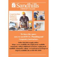 HVAC, Plumbing, Carpentry, and Forklift  Instructors Needed