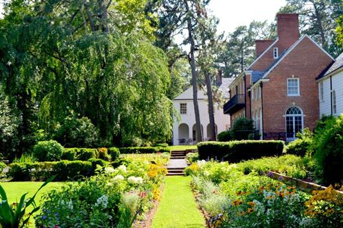 A view from the long-bed gardens