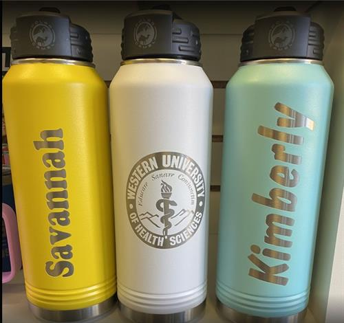 Custom Insulated Water Bottles - Holds 32 oz. - Great Value! FREE ENGRAVING