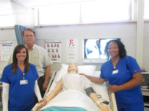 Vocational Nursing students with Director, Clark Stevens