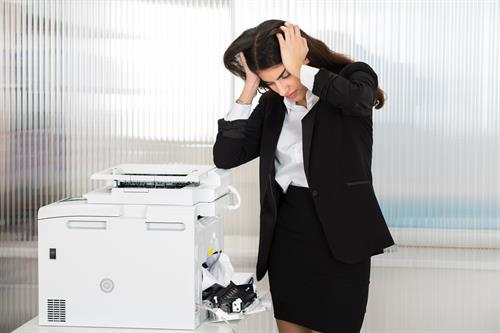 Printer or Copier Jam, call us for FREE tech support. 909-305-0777