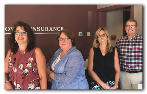 Our team or personal insurance agents.
