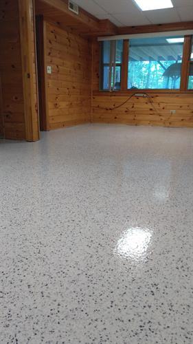 Basement floor for residential home in Moultonborough
