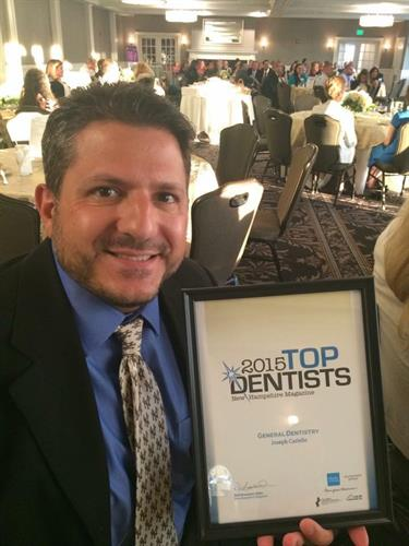 Congratulations, Dr. Joe, for being voted a top dentist since 2011! (8 years in a row!)
