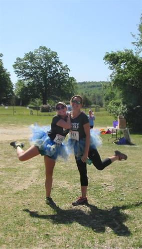 Rhiannon and Danielle at the Miles for Smiles 5K, 2018