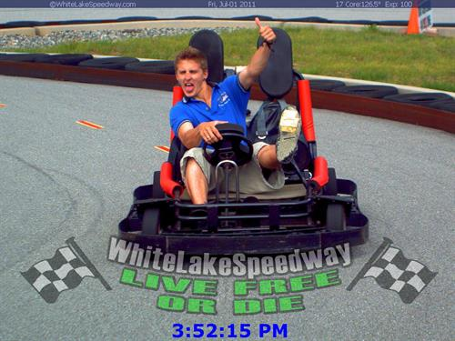 "Family Fun-Track! Even drivers as young as 9 yrs. age (& 54"" tall) get to drive!"
