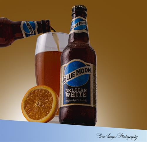 Blue Moon Belgium style Wheat Ale.