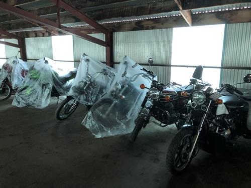 Store your motorcycles and trailers with us during the long, cold winter months.