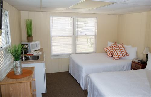 One room cottage with double beds