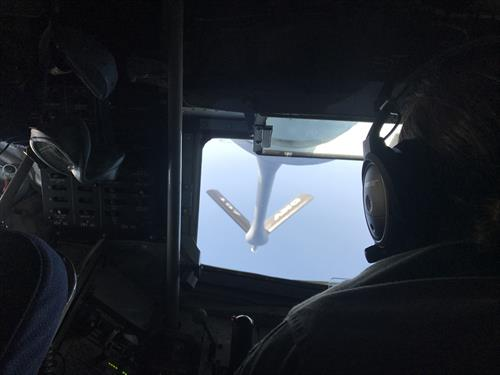 Honor of watching Air Force Planes refueling midair flight
