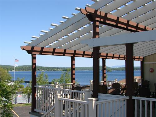 T-BONES outdoor dining overlooking Paugus Bay!