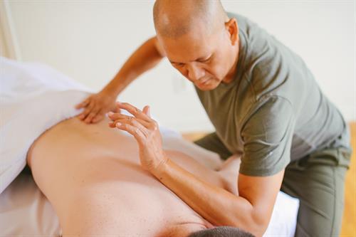 PalmLeaf Massage Style - integrated with Lomilomi hawaiian style massage