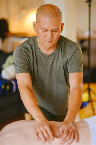 Ramon Mascarenas, CMTPT, LMT at PalmLeaf Massage Clinic