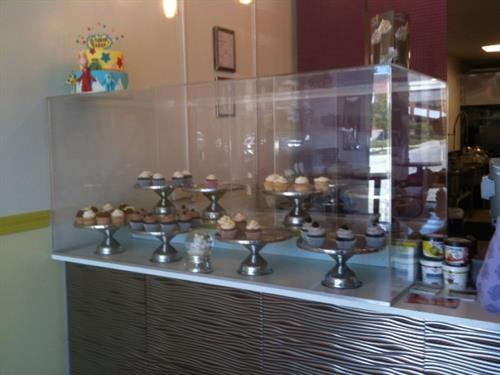 sample custom store display case