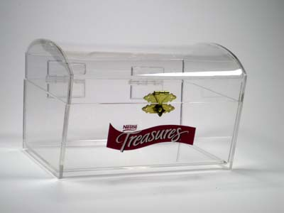 sample custom promotional treasure chest for drawings