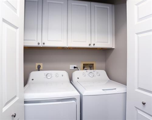 Full-size washer & dryer in each apt