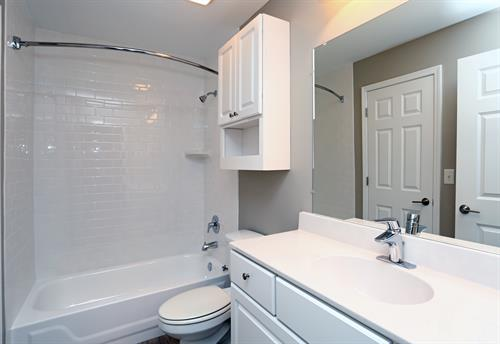 Fully renovated bathrooms